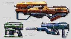 Weapons concept updated, Juan Novelletto on ArtStation at https://www.artstation.com/artwork/weapons-concept-updated