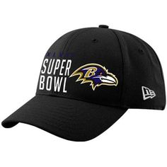 New Era Baltimore Ravens Super Bowl XLVII Bound Commemorative 9FORTY  Adjustable Hat Super Bowl Gear ba3c91283