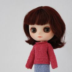 New to AnneArchy on Etsy: Middie Blythe doll Ren Sweater knitting PATTERN - long sleeve cardigan & reverse - instant download - permission to sell finished items (5.00 USD)