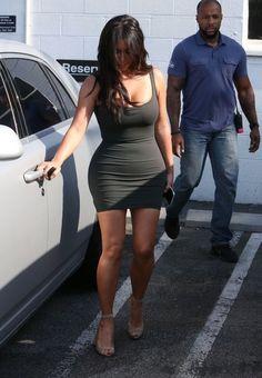 Kim Kardashian Photos Photos - Reality star Kim Kardashian is seen wearing a summer dress as she leaves a studio in Van Nuys, California on June 21, 2016. - Kim Kardashian Leaves a Studio in Van Nuys