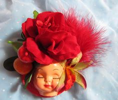 Dollface Fascinator Hat  Carmen by rascalkosher on Etsy, $65.00