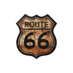 Placa Route 66 Vintage - Ref.1003
