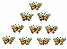 Amazon.com: ID #2335B Butterfly Insect Embroidered Iron On Applique Patch Lot of 10: Arts, Crafts & Sewing