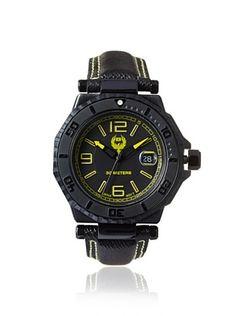 81% OFF Brillier Men's 25-01 Hype Black Stainless Steel Watch