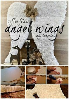 Beautiful angel wings decor for christmas DYI!
