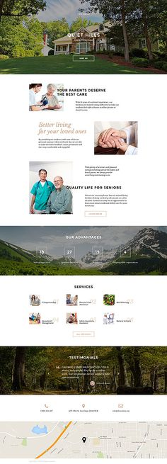 Template 58300 - Elderly Care  Responsive Landing Page Template