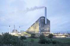 Copenhill uses Copenhagen's trash to produce electricity and radiant heating. #dwell #moderndesign #modernarchitecture