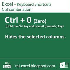 Raj Excel: Excel Keyboard Shortcut : Ctrl + 0 (Zero)