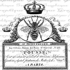 Queen Bee Bees French Handwriting