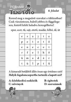 Teki-Totó Word Search, Periodic Table, Words, Periodic Table Chart, Periotic Table, Horse