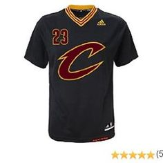 6811fb518a2  LeBron  James  Cleveland  Cavaliers Adidas Youth Replica Black Alternate  Jersey Nba Cleveland