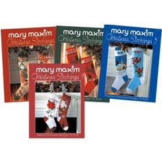 Mary Maxim Christmas Stockings Pattern Books - set of 4 books with 52 patterns $14.97 on Mary Maxim at http://www.marymaxim.com/mary-maxim-christmas-stockings-pattern-books.html