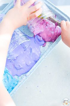 Galaxy Oobleck Easy Science Activities - Natural Beach Living Space Activities For Kids, Party Activities, Science Activities, Fun Galaxy, Galaxy Colors, Star Wars Birthday, Star Wars Party, Sensory Bins, Sensory Play