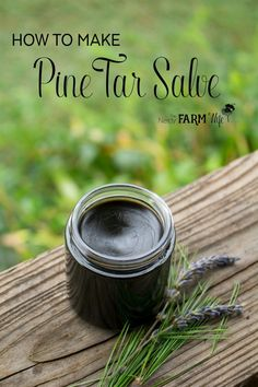 Old-fashioned pine tar salve has been traditionally used to treat everything from splinters, bug bites and boils, to patches of eczema or psoriasis. It's super easy to make too!