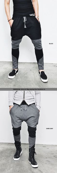 Bottoms :: Sweatpants :: Low Crotch Seaming Biker Baggy-Sweatpants 37 - Mens Fashion Clothing For An Attractive Guy Look - 2019 Baggy Sweatpants, Baggy Pants, Sweatpants Style, Mens Joggers, Men Pants, Sweat Pants, Urban Fashion, Mens Fashion, Fashion Outfits