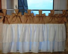 Balloon Curtains, Tab Curtains, French Curtains, Burlap Curtains, Custom Curtains, Cortinas Shabby Chic, Rideaux Shabby Chic, Shabby Chic Curtains, Farmhouse Curtains