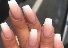 Nude ombre nails with white tip. Are you looking for short coffin acrylic nail d… Nude ombre nails with white tip. Are you looking for short coffin acrylic nail d…,Fingernägel Nude ombre nails. Gorgeous Nails, Pretty Nails, Fabulous Nails, White Tip Nails, White Coffin Nails, Coffin Shape Nails, Gel Nails With Tips, Basic Nails, Wedding Nails Design