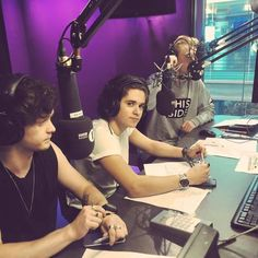 We are taking over BBC/Radio 1 from 4-7! Getting nervous, they are literally letting us control everything - no idea what we are doing. The Vamps, June 2016