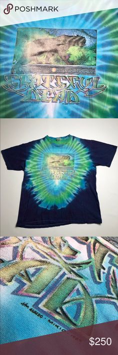 3f56e1ac8497 VTG Grateful Dead 1989 Jungle Forest Panther Tee Unisex Grateful Dead band  tour tye dye t