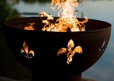 "The Fire Pit Store - Fire Pit Art 36"" Fleur de Lis Lily Flower - FDL, $790.00 (http://www.thefirepitstore.com/fire-pit-art-36-fleur-de-lis-lily-flower-fdl/)"