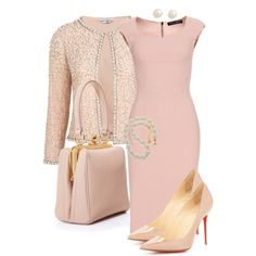 A fashion look from October 2013 featuring short dresses, pink blazer and nude shoes. Browse and shop related looks.