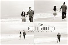 Engagement Photo Session.Couple walking on Santa Monica beach. Photo by Nicole Goddard Photography. www.nicolegoddard.com