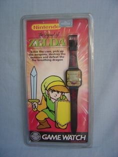 vintage zelda watch - still got this one in the packet :) Tv Watch, Game & Watch, All Video Games, Video Game Art, Arcade Table, Mega Drive Games, Dragon Games, Game Room Decor, Arcade Machine