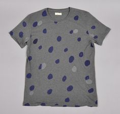 """dottie print"" t-shirt, steely grey :: hickoree's hard goods"