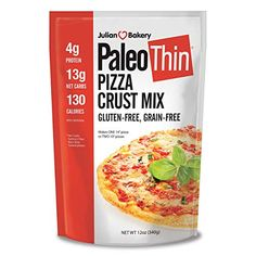 Paleo pizza crust mix will blow you away and keep us paleo and primal folks happy as a clam It's super easy to work with, it's quite tasty, it has a nice te Paleo Pizza Crust, Thin Crust Pizza, Gourmet Recipes, Snack Recipes, Snacks, Julian Bakery, Main Food Groups, Thin Pancakes, Happy As A Clam
