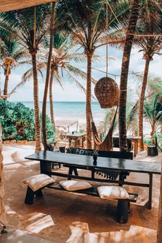 Tulum Restaurants, Tulum Hotels, Rustic Restaurant, Outdoor Restaurant, Life In Paradise, African House, Outdoor Living, Outdoor Decor, Outdoor Bars