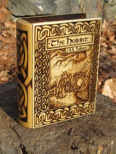 Woodburned Box of The Hobbit by burntstuff on Etsy, $300.00