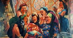 Swearing women    ردح النساء    In Sept 2012, I attended a fine arts exhibition at Jeddah Atelier and I was amazed by the caricature painti...
