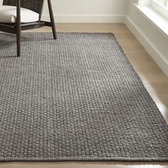 Keeler Grey Jute Rug is part of Living Room Rug Jute - Shop Keeler Grey Jute Rug Handwoven of durable and highly sustainable jute into a chunky basketweave, this flatweave rug brings livable color and great texture to casual living spaces Teal Carpet, Diy Carpet, Patterned Carpet, Carpet Colors, Rugs On Carpet, Carpet Decor, Modern Carpet, Stair Carpet, Frieze Carpet