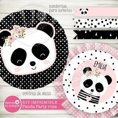 Panda Bear Cake, Bear Cakes, Party In A Box, Party Kit, Panda Party, Baby Shower, Digital Invitations, Party Printables, Kids Rugs