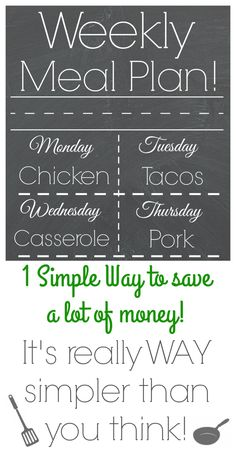 Great, easy to follow meal plan ideas!