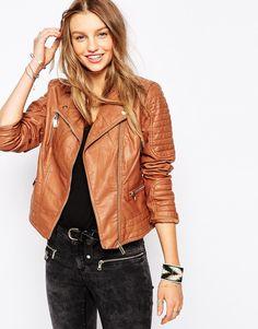 Pimkie+Leather+Look+Biker+Jacket