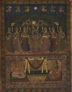 Pichwai Painting - Pichwai 158 by Pichwai Pichvai Pichhavai Pitchwai Pichwai Paintings, Indian Paintings, Mural Painting, Silk Painting, Kalamkari Painting, Religious Paintings, Indian Folk Art, Hindu Art, Online Painting