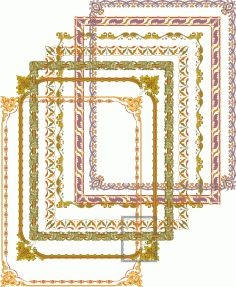 Fancy Frames and Border Set Free Vector Writing Expressions, Cd R, Coreldraw, Vector File, Fancy, Cnc Router, Pattern, Silhouette, Drawing