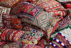 Tribal pillows!