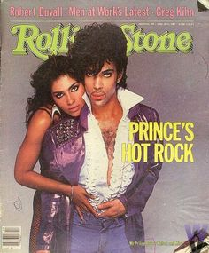 #Vanity and #Prince, shot by Avedon for the Rolling Stone cover in '83.