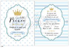Προσκλητήριο βάπτισης Little Prince Prince, Bullet Journal