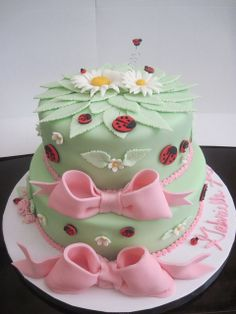 Ladybug Baby Shower Cake by Shelby's Sweets, via Flickr