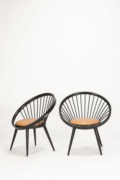 Paar Yngve Ekström Circle Chairs - Okay Art