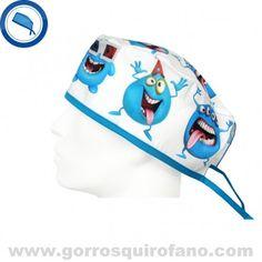 http://www.gorrosquirofano.com/producto/gorros-medicos-divertidos-munecos-azules/ Gorros Medicos Divertidos Muñecos Azules
