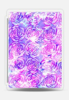 CASETiFY iPad Pro Folio case - Purple, Pink, and Blue Watercolor Paint Abstract Flowers Pattern by BlackStrawberry Ipad Air 2 Cases, Ipad Case, Ipad Sleeve, Abstract Flowers, Watercolour Painting, Flower Patterns, Apple Ipad, Purple, Tech Accessories