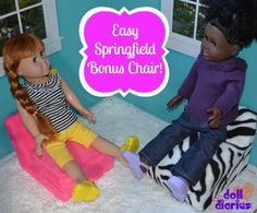 BONUS CHAIR!  Get 2 chairs for the cost of one!    Start out with Springfield Dolls flip chair & get creative designing the second one!!! http://bit.ly/VV6Skl