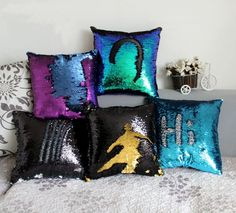 Mermaid Sequin pillow magical color changing reversible sequin throw pillow Home Decor Cushion  Decorative Pillowcase #>=#>=#>=#>=#> Click on the pin to check out discount price, color, size, shipping, etc. Save and like it!