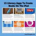 "Have these apps ready to go on your student iPads. #backtoschool ""15 Literacy Apps To Create Books On The iPad"" http://teachthought.com/apps-2/15-literacy-apps-to-create-books-on-the-ipad/ #edtech #teachers"