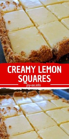 The lemon bars of your dreams take just 15 minutes of prep: Stir together a mere three ingredients to create a sunny, puckery filling for a buttery shortbread crust. FOR THE CRUST 4 tablespoons butter, melted and Köstliche Desserts, Lemon Desserts, Lemon Recipes, Delicious Desserts, Yummy Food, Condensed Milk Recipes, Def Not, Food Cakes, How Sweet Eats