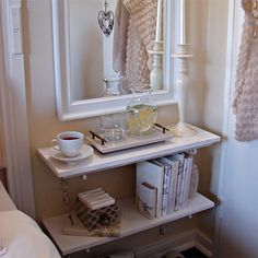 The master bedroom isn't large enough to accommodate much in the way  of furniture, so Tanya had to improvise for extra storage space. On ...